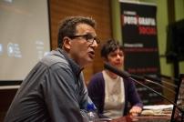 Eduard Bertran (Director de l'IEFC) presentando a la ponente Laetitia Guillemin. © Joan Ribó